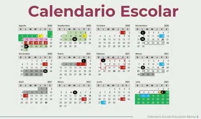 CALENDARIO OFICIAL DE LA SEP PARA EL CICLO 2020-2021